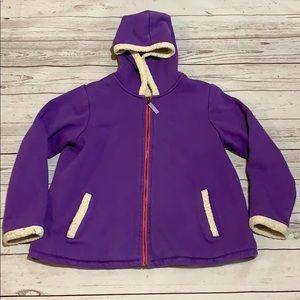 Girls zippered Sherpa sweatshirt size M, 10-12